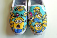 Minions. We should totally get a pair of white shoes and doodle minions on them!