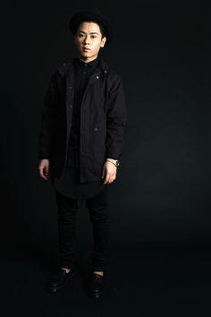 Shop this look on Lookastic:  http://lookastic.com/men/looks/hat-dress-shirt-long-sleeve-t-shirt-parka-watch-skinny-jeans-tassel-loafers/7504  — Black Wool Hat  — Black Dress Shirt  — Black Long Sleeve T-Shirt  — Black Parka  — Gold Watch  — Black Skinny Jeans  — Black Leather Tassel Loafers