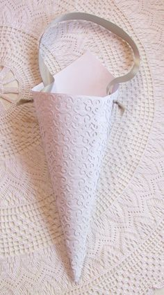 White Lace Die Cut Pew Cone Wedding Aisle Decor by AlicesWedding