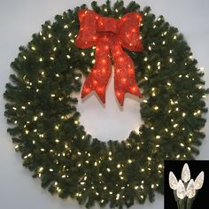 Gemmy 2.4 ft Multi Color Frosted Vines Wreath