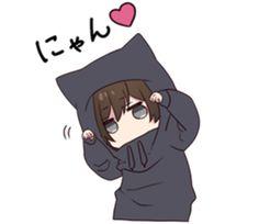 Menhera-kun.3 | Yabe-LINE貼圖代購 | 台灣No.1,最便宜高效率的代購網 Anime Neko, Cute Anime Chibi, Anime Girl Cute, Kawaii Chibi, Kawaii Art, Anime Art Girl, Anime Love, Anime Grim Reaper, Chibi Boy