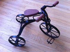 Vintage Metal and Wood Tricycle / Trike / Bike by UrbanOwlVintage