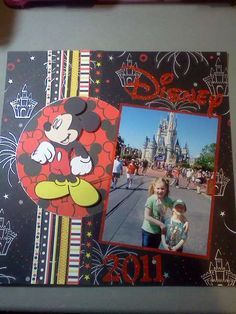 #papercraft #scrapbook #layout #Disney cute use of paper