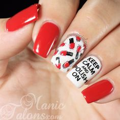 Keep Calm and Polish On Mani