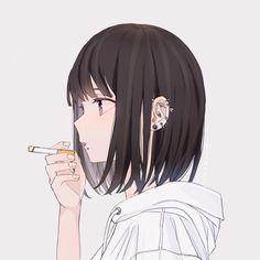 Damn these piercings on point😍😻😘❤ Kawaii Anime Girl, Anime Art Girl, Anime Guys, Manga Anime, Dark Anime, Girls Manga, Pop Art Wallpaper, Anime Love Couple, Beautiful Anime Girl