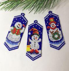 Adorno muñeco de nieve. Adornos de Navidad. por LaBellaBottega13