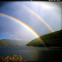 #double #rainbow #beauty almost home from our road trip - by Kimberly Neddo