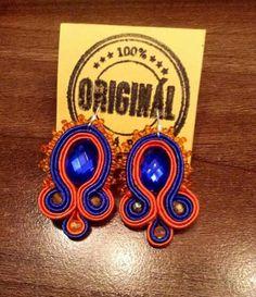 Handmade ZuzDesign soutache earings Jewelery, The Originals, Handmade, Jewlery, Jewels, Hand Made, Jewerly, Schmuck, Jewelry