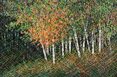 Landscape in Thread, Hand Embroidery by Martha Fieber