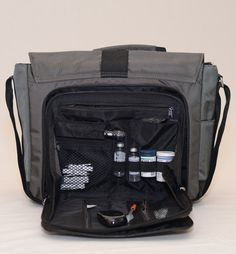 Messenger - Diabetic Bag | Adorn - Functional and Fashionable Diabetic Bag With Built in Supply Case.