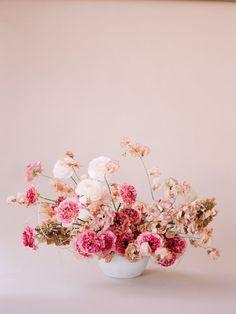Wedding Flower Arrangements Pink prettiness in a floral invitation. - Design Journal Floristry by Nicole Land Wedding Flower Arrangements, Floral Centerpieces, Wedding Centerpieces, Wedding Bouquets, Floral Arrangements, Centrepieces, Ikebana, Floral Wedding, Wedding Flowers