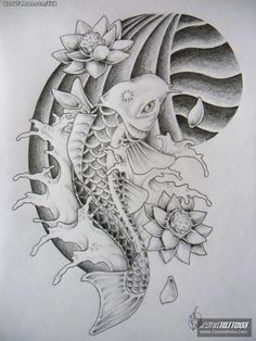 tatuajes de pez koi - Buscar con Google