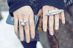 blush is the new black: rings!