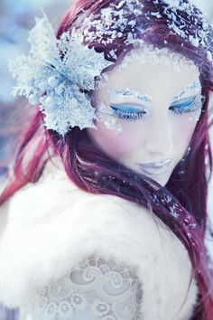 Winter Snow Fairy Make Up Looks, Ideas & Trends 2015 - Bilden Ideen Creepy Halloween Makeup, Halloween Kostüm, Halloween Costumes, Family Costumes, Family Halloween, Wedding Makeup For Brown Eyes, Makeup Looks For Green Eyes, Eye Makeup, Fairy Makeup