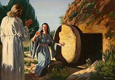 Jesus said to her, 'Mary.' She turned toward him and cried out in Aramaic, 'Rabboni!' John 20:16