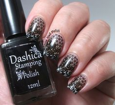 The Clockwise Nail Polish: Negative Space Stamping Nails