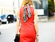 How All the Cool Girls Are Wearing Scarves This Summer via @WhoWhatWear
