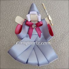 Fairy Godmother Hair Clip Ribbon Sculpture by GirlyKurlz.com