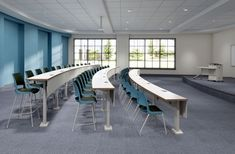 Doni chair and stool with Seminar Tiered Tables