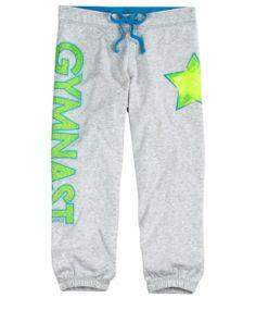 Sports Fleece Cuff Capri Sweatpants | Girls Sweatpants Clearance | Shop Justice