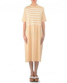 Handwoven cotton khadi ruched dress