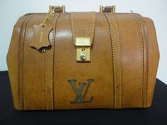 Amazing Vintage Louis Vuitton Leather Doctor Bag