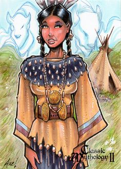 Wohpe : Lakota mythology. Wóȟpe is a goddess of peace, the daughter of Wi and the Moon, Haŋhépi-Wi. She was the wife of the south wind. When she visited the Earth, she gave the Dakota Indians (Sioux) a pipe as a symbol of peace. Later, Wóȟpe became the White Buffalo Calf Woman. An alternative name for Wóȟpe is Ptehíŋčalasaŋwiŋ. The name Wóȟpe means meteor and she represents peace, harmony, meditation and the cycles of time. Her sacred stone is turquoise