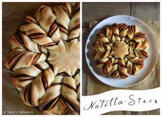 Diese Brotblume mit Nutella oder auch Nutella Stern von Patce's Patisserie sieht fantastisch aus! #Rezept: http://www.kuechenplausch.de/rezept/info/165941-brotblume-mit-nutella-aka-nutellastern-keine-brotlose-kunst