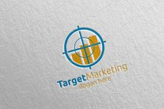 Target Marketing Financial Logo 49 by denayunebgt on @creativemarket Marketing Logo, Financial Logo, Logos, Logo
