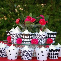 Black and White Cupcake Wrappers