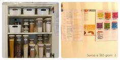 sorriso a 365 giorni: Paroladordine: organizzare la credenza (2) - raggruppa il cibo per genere e ponilo in contenitori ermetici (cereali, zuccheri, sale...) o in contenitori estraibili (snack)