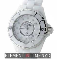 Chanel J12 33mm Quartz White Ceramic White Diamond Dial Ref#: H1628 ($5,375.00 USD)