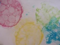 Tales of an Aussie Mum: More bubble painting