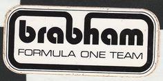 BRABHAM FORMULA ONE TEAM 1989 BT58 ORIGINAL PERIOD STICKER ADESIVO AUFKLIEBER Racing Stickers, Formula 1 Car, Formulas, Vintage Racing, One Team, F1, Team Logo, Race Cars, Whale
