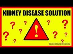 If you struggle with kidney disease, then this may be a solution for you.