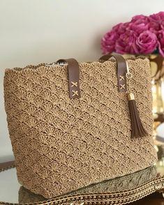 New fashion brown color knitting shoulder … – Crochet Bag İdeas. Crochet Coin Purse, Free Crochet Bag, Crochet Purse Patterns, Crochet Market Bag, Crochet Tote, Tote Pattern, Crochet Handbags, Crochet Purses, Crochet Yarn