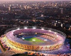 The Olympics! Who gets up at 4:00 a.m. to watch? Not me unless it's a sleepless night. Gives me hope that all nations can co-exist peacefully without all of the politics.  Google Image Result for http://www.london-2012-olympics.net/wp-content/themes/cognoblue/images/2012_olympic_stadium_large_470x370.jpg