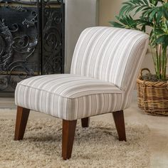 Christopher Knight Home Castaic Fabric Slipper Chair Overstock.com $162 x 2