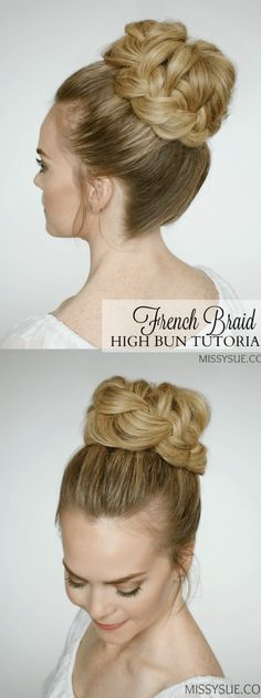 francés-trenza-alta-BUN-peinado-tutorial-3