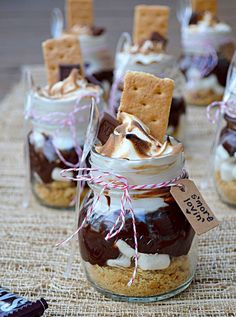 Smores in a jar party food sweet decoration party ideas smores party idea pictures party decoration summer garden party