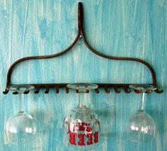 Rake wine rack - Photo credit: honeyblossomstudio
