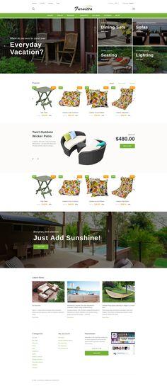 PrestaShop Theme , Furnitta - Outdoor Furniture
