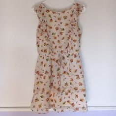 "Floral sun dress Great condition, stretchy waist, cute alone or with a jean jacket! 32"" long Xhilaration Dresses Midi"