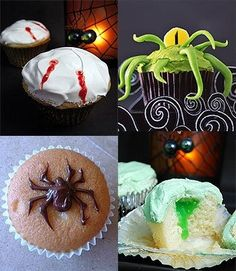 Spooky Halloween Cupcake Ideas and Decorating
