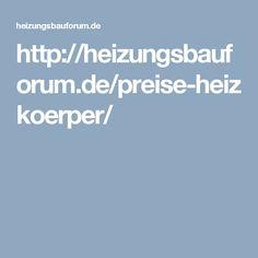 http://heizungsbauforum.de/preise-heizkoerper/