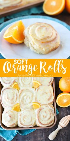 Jan 2020 - Orange Rolls are a delicious sweet roll made with a soft and fluffy potato dough filled with a zest-infused sugar and topped with a fresh orange glaze. Perfect for breakfast, weekend brunch, or holidays -- like Easter. Just Desserts, Delicious Desserts, Dessert Recipes, Yummy Food, Health Desserts, Breakfast Pastries, Sweet Breakfast, Orange Recipes Breakfast, Strudel