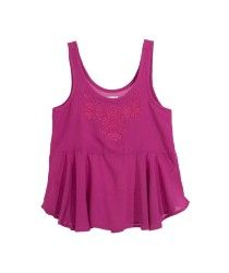 5204361-Violeta-17-2624 Tank Tops, Women, Fashion, Shirts For Girls, Little Girl Clothing, Moda, Halter Tops, Fashion Styles, Fashion Illustrations