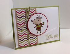 Stampin' Fun with Diana: 30 Day Gratitude Card Challenge: Day Six, Create with Connie and Mary Color Challenge, Color Me Christmas, Another Thank You Photopolymer, Christmas, Thanks, Card, Stampin' Up, Diana Eichfeld