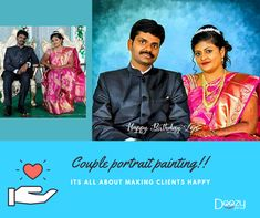 Beautiful Couple portrait paintings!! 😍 we always ensure customer satisfaction 😊 highly professional artists 👨💻 100% satisfaction ensured 👍 starting at ₹ 450 /- only  Dm for your orders (or) whatsapp : 7799779935 website : www.doozypics.com  #beautifulcouples #couple #indiancouple #portraitpainting #bestgiftever #wedding  #cutecouple #canvasprint #canvasprints #gift #gifts #birthday #birthdaygift #uniquegifts #specialgift #oilpainting #art #bestgiftever #bestgift #anniversary #engagement Photo Restoration, Canvas Art, Canvas Prints, Portrait Paintings, Photo Retouching, Couple Portraits, Beautiful Couple, Cute Couples, Special Gifts