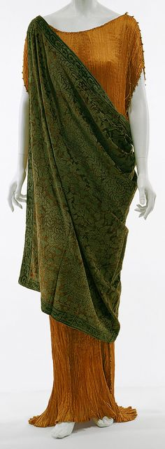 Mariano Fortuny - Couture - Robe 'Delphos' et Toge - Années 20